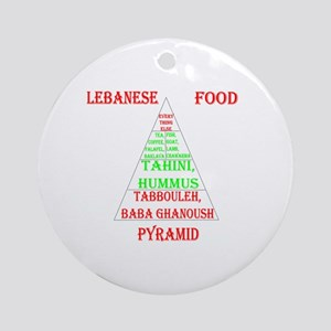 Lebanese Food Pyramid Ornament (Round)