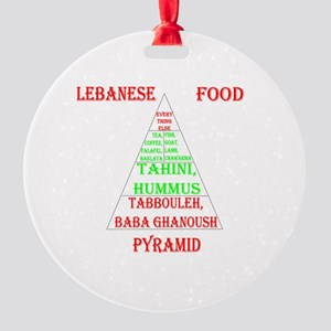 Lebanese Food Pyramid Round Ornament