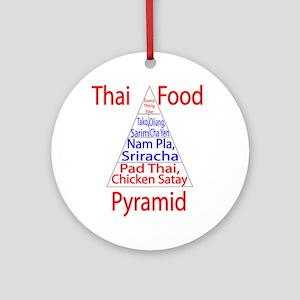 Thai Food Pyramid Ornament (Round)