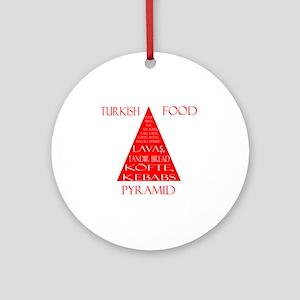 Turkish Food Pyramid Ornament (Round)