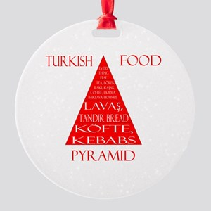 Turkish Food Pyramid Round Ornament