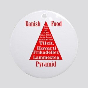 Danish Food Pyramid Ornament (Round)