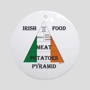 Irish Food Pyramid Ornament (Round)