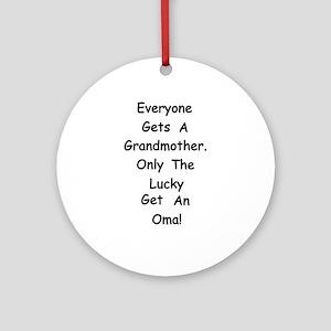 Oma Ornament (Round)
