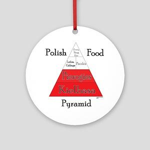 Polish Food Pyramid Ornament (Round)