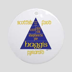 Scottish Food Pyramid Ornament (Round)
