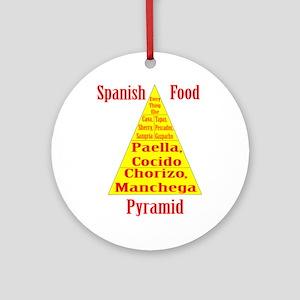 Spanish Food Pyramid Ornament (Round)