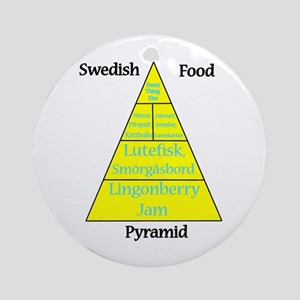 Swedish Food Pyramid Ornament (Round)