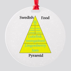 Swedish Food Pyramid Round Ornament
