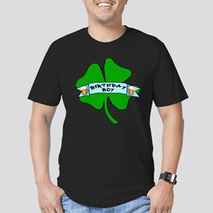 Irish Birthday Boy with Beer Men's Fitted T-Shirt