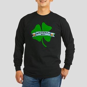 Irish Birthday Boy with Beer Long Sleeve Dark T-Sh