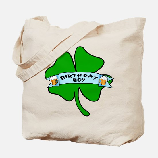 Irish Birthday Boy with Beer Tote Bag