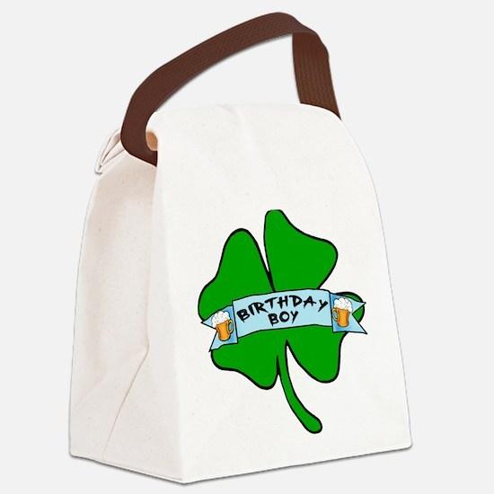 Irish Birthday Boy with Beer Canvas Lunch Bag