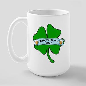 Irish Birthday Boy with Beer Large Mug