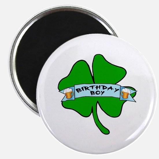 "Irish Birthday Boy with Beer 2.25"" Magnet (10 pack"