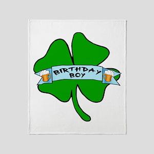Irish Birthday Boy with Beer Throw Blanket