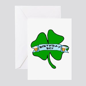 Irish Birthday Boy with Beer Greeting Cards (Pk of