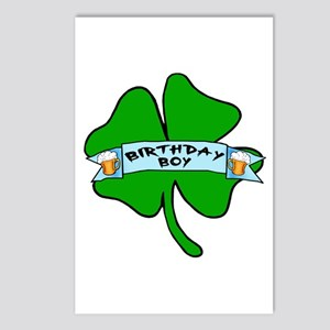 Irish Birthday Boy with Beer Postcards (Package of