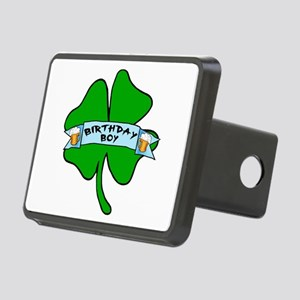 Irish Birthday Boy with Beer Rectangular Hitch Cov