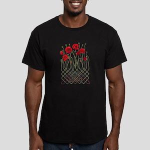 Celtic Poppies Men's Fitted T-Shirt (dark)