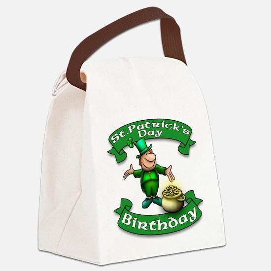 St. Patrick Birthday Leprechaun Canvas Lunch Bag