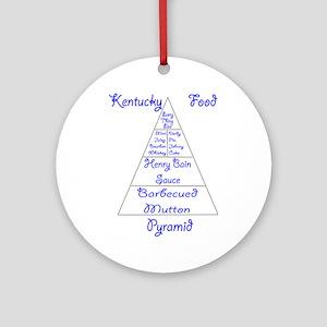 Kentucky Food Pyramid Ornament (Round)
