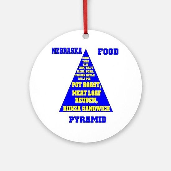 Nebraska Food Pyramid (round) Round Ornament