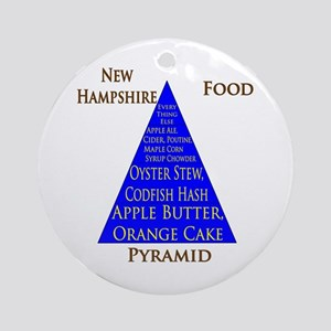 New Hampshire Food Pyramid Ornament (Round)