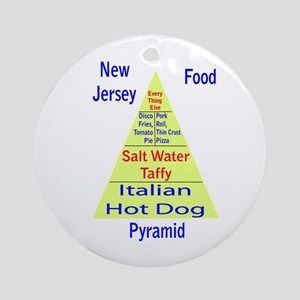New Jersey Food Pyramid Ornament (Round)