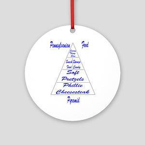 Pennsylvanian Food Pyramid Ornament (Round)