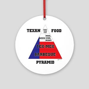 Texan Food Pyramid Ornament (Round)
