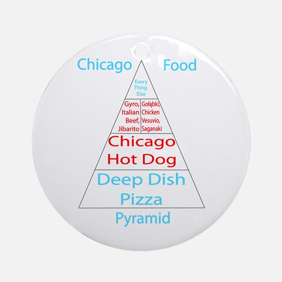 Chicago Food Pyramid Ornament (Round)