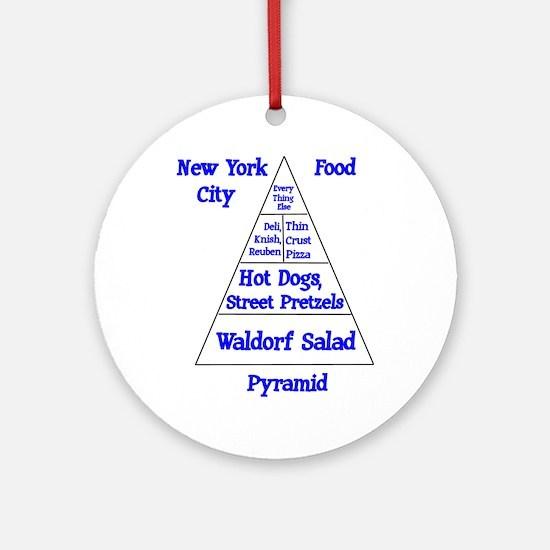 New York City Food Pyramid Ornament (Round)