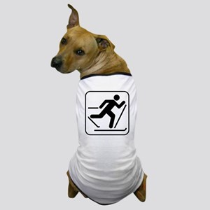 Cross Country Skiing Sports Dog T-Shirt