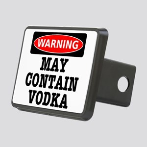 May Contain Vodka Rectangular Hitch Cover