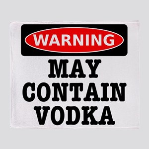 May Contain Vodka Throw Blanket