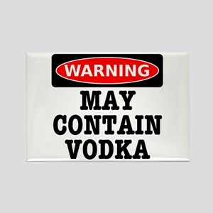 May Contain Vodka Rectangle Magnet