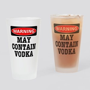 May Contain Vodka Drinking Glass