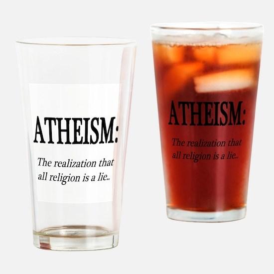 Atheism Shirt Drinking Glass