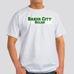 Baker City Rules! Ash Grey T-Shirt