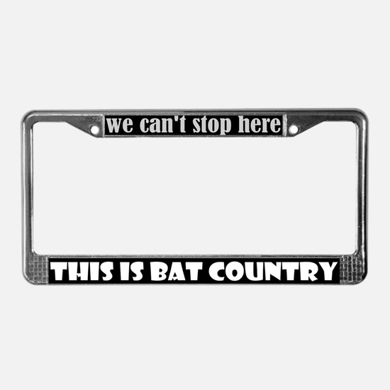 Bat Country License Plate Frame