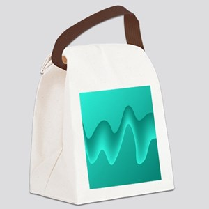 Teal Wave Image. Canvas Lunch Bag