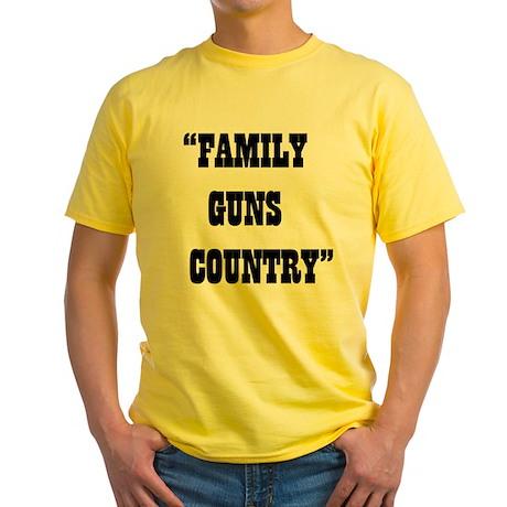 FAMILY GUNS COUNTRY Yellow T-Shirt
