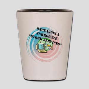 Once Upon a Surrogate Stork Services Shot Glass