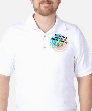 Once Upon a Surrogate Stork Services Golf Shirt