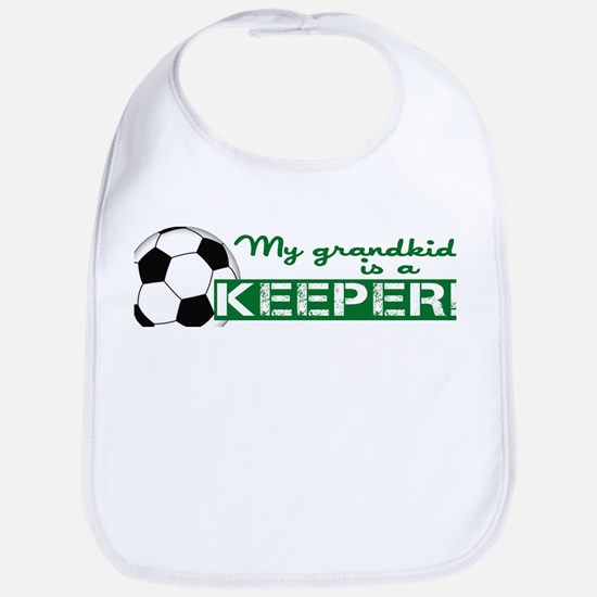 Proud grandparent of a soccer goalkeeper Bib