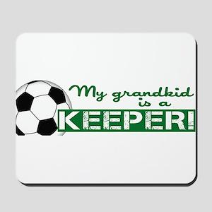 Proud grandparent of a soccer goalkeeper Mousepad