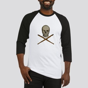 skull and stick bones Baseball Jersey