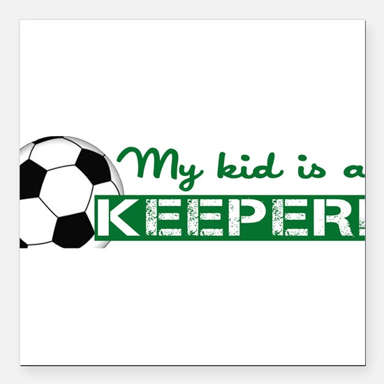 "Proud Goalkeeper Parent Square Car Magnet 3"" x 3"""