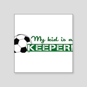 "Proud Goalkeeper Parent Square Sticker 3"" x 3"""